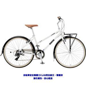 """シティサイクル 2021 GIOS ジオス LIEBE リーベ ホワイト 7段変速 26""""ホイール vehicle"""