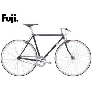 (選べる特典付き!)シングルスピードバイク 2021 FUJI フジ STROLL ストロール ギャラクシーブラック シングルギア ピストバイク 700C|vehicle