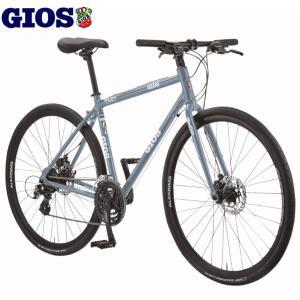 クロスバイク 2020 GIOS ジオス MISTRAL DISC MECHANICAL ミストラル ディスク メカニカル グレー 24段変速 ワイヤー式ディスクブレーキ仕様|vehicle
