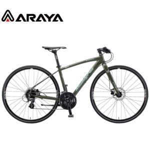 クロスバイク 2021 ARAYA アラヤ MFX Muddy Fox Xross マディ フォックス クロス マットカーキ 24段変速 700C 油圧ディスクブレーキ|vehicle