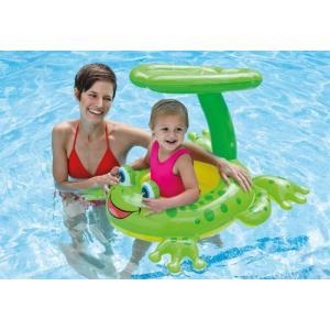〜赤ちゃん大満足♪楽しいプール遊びに!〜 ★カエルの形のカワイイ浮き輪♪ ・足入れ式なので安心! ・...