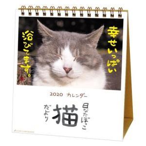 日なたぼっこ猫だより カレンダー 2020 年 ねこ 卓上 スケジュール 動物写真 書き込み インテリア アクティブコーポレーション|velkommen