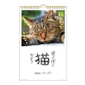 カレンダー 2022年 壁掛け 日なたぼっこ 猫だより ねこ スケジュール アクティブコーポレーション 動物写真 書き込み velkommen