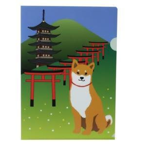 A4 シングル クリアファイル クリアフォルダー 柴田さんの住む東京わさび町 柴犬 Japanシリーズ 46 アクティブコーポレーション 文具 インバウンド velkommen