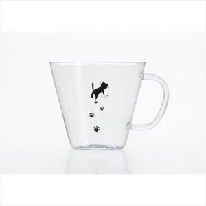 ティーカップ グラスカップ ASHIATO 足あと ストレート アデリア 240ml 耐熱ガラス ギフト|velkommen