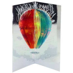 ポップアップ バースデーカード グリーティングカード  気球 APJ 誕生日おめでとう|velkommen