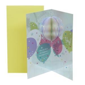 BirthDay バルーン バースデーカード グリーティングカード 119084 APJ メッセージカード|velkommen