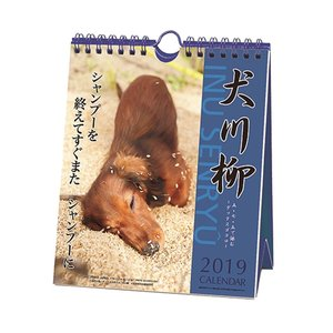 カレンダー 2019 年 スケジュール 壁掛け 卓上 ダックス 犬川柳 週めくり いぬ 動物 写真 書き込み velkommen