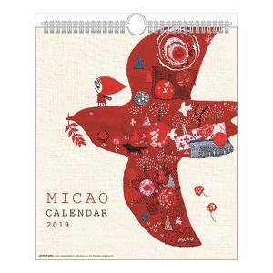 カレンダー2019年 MICAO みかお  30角 壁掛け スケジュール 国内作家 アート インテリア velkommen