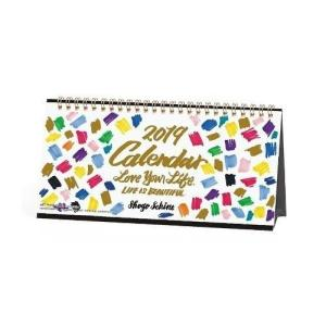 SHOGO SEKINE 卓上カレンダー 2019年 ゴールドアクセント 国内作家 ガーリー インテリア|velkommen