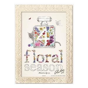 2019 カレンダー mia/floral season 額縁付き アート イラスト インテリア|velkommen