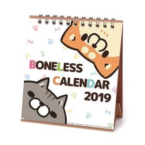 卓上 カレンダー 2019年 スケジュール もふ屋 ボンレス犬 ボンレス猫 LINEクリエイターズ キャラクター インテリア APJ 135×150mm|velkommen