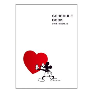 手帳 2019年 スケジュール帳 B6 マンスリー ディズニー ミッキーマウス ガントチャート ハート 月間 キャラクター 10月始まり ダイアリー APJ|velkommen