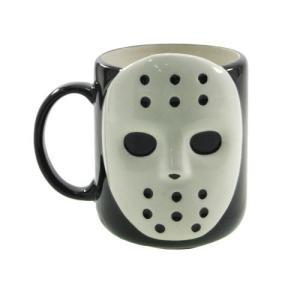マグカップ 陶器製 ホラーマスク ジェイソン風 面白雑貨 食器 プレゼント バースデー 誕生日ギフト|velkommen