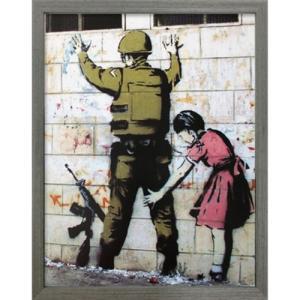 Banksy アートフレーム バンクシー Girl Searching Soldier 美工社 IBA-61731 30.5×38×3.2cm|velkommen