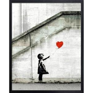 アートフレーム Banksy Red Balloon バンクシー 美工社|velkommen