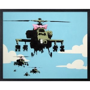 アートフレーム Banksy バンクシー Helicopters 美工社|velkommen