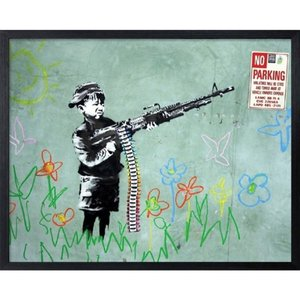 アートフレーム Banksy バンクシー No Parking 美工社 IBA-61738|velkommen