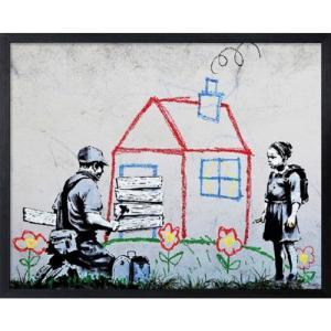Banksy アートフレーム バンクシー Playhouse 美工社|velkommen