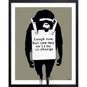Banksy アートフレーム Laugh Now バンクシー 美工社|velkommen