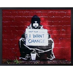 Banksy アートフレーム バンクシー I Want Change 美工社|velkommen