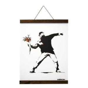 Banksy ポスター & ポスターハンガー セット バンクシー Molotov(Brown Hanger style) 美工社 IBA-61994 Logom ラゴム|velkommen