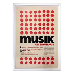 送料無料 Bauhaus バウハウス MusikamBauhaus IBH70044 額付グラフィックアートポスター 取寄品 プレゼント バースデー|velkommen
