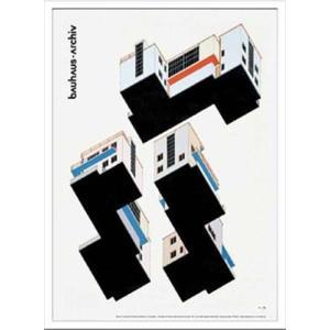絵画 インテリア 壁掛け 額付グラフィックアートポスター Bauhaus バウハウス WeimarAusstellung1923 IBH70046|velkommen