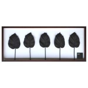 リーフアートフレーム Hosta.cv / Black F-style Frame ギボウシ ホスタ 美工社 101.5×42.5×3cm|velkommen