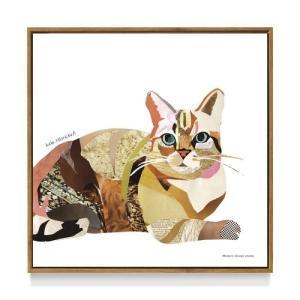 インテリア パネル アートポスター フレーム 付 kaho HOSOKAWA Cat 猫 ねこ雑貨 デザイン 50×50cm 美工社 お洒落 velkommen