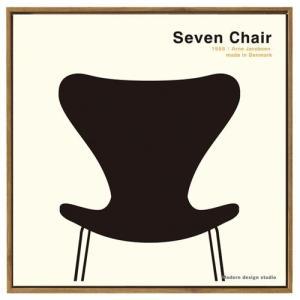 インテリア デザイン フレーム モダン アート ポスター 額付 イス Toshiaki Yasukawa Seven Chair おしゃれ 50×50cm|velkommen