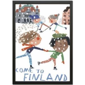 Scandinavian Art 額装品 スカンジナビアンアート スケート 美工社 ZLS-52682 北欧|velkommen
