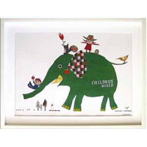 送料無料 コロボックル Colobockle ChildrenWorld ZCO-10335 額付インテリアアートポスター 取寄品 プレゼント velkommen