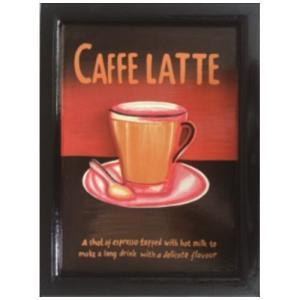 カフェ風インテリア インテリア アート Handmade Sign Board CAFFE LATTE カフェラテ 美工社 30×43cm velkommen