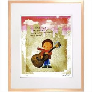 アートフレーム 額装品 はりたつお ギターと少年 美工社 36.5×44×2cm velkommen