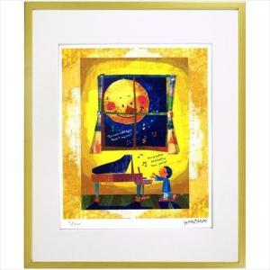 額装品 アートフレーム はりたつお 月に照らされて 美工社 36.5×44×2cm ギフト 300枚限定 velkommen