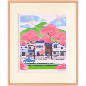 アートフレーム 額装品 はりたつお 桜の季節 美工社 velkommen