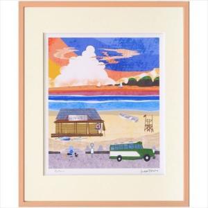 額装品 アートフレーム はりたつお 夕暮れの浜辺 美工社 36.5×44×2cm velkommen