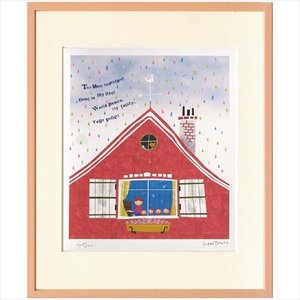 アートフレーム 額装品 はりたつお 虹色の雨 美工社 36.5×44×2cm velkommen