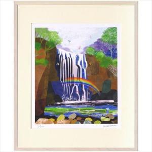 アートフレーム 額装品 はりたつお 熊野の滝 美工社 36.5×44×2cm ギフト 300枚限定 額付き velkommen