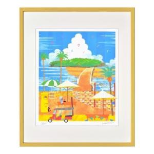 宮崎青島 夏のひととき 空色ぼうしのお話し アートフレーム はり たつお 美工社 ZTH-62011 velkommen