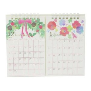 卓上 カレンダー 2019年 nami nami 2ヶ月表示 クローズピン 2ヶ月表示 アート カレンダー 18×14.5cm velkommen