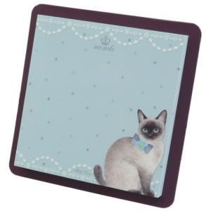 付箋 スクエア スティッキー たけいみき SIAMESE CAT シャム猫 クローズピン 事務文具 ガーリー 雑貨 velkommen