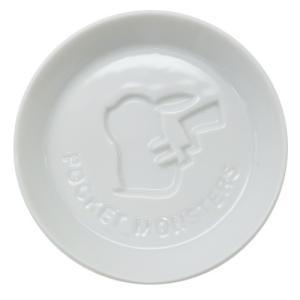 小皿 絵柄が浮き出る 醤油皿 ポケモン ピカチュウシルエット ポケットモンスター 金正陶器 直径8cm 日本製|velkommen