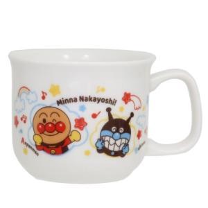 こども マグ キッズ食器 マグカップ アンパンマン なかよし 金正陶器 子ども 女の子 男の子 日本製食器 食洗機対応|velkommen