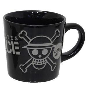 撥水マグ マグカップ 麦わら海賊旗 黒 ワンピース 金正陶器 ギフト雑貨|velkommen