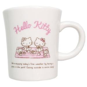 ホリディ マグカップ コップ ハローキティ ピクニック サンリオ 金正陶器 11.5×8.8×10.1cm 食器|velkommen