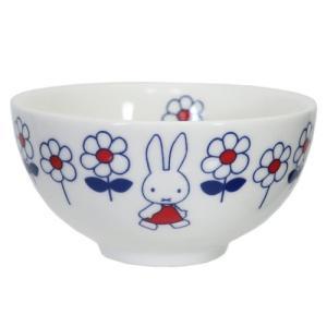 お茶碗 磁器製 ライスボウル ミッフィー hanahana 金正陶器 ディックブルーナ 直径10.5×5.5cm velkommen