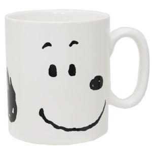 ビッグフェイス MUG マグカップ スヌーピー スヌーピー ピーナッツ 金正陶器 500ml 日本製|velkommen