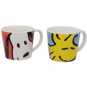 マグカップ ペアマグ 2個セット スヌーピー スヌーピー&ウッドストック 金正陶器 ピーナッツ|velkommen